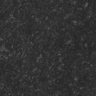 GoodHome Kabsa Gloss Granite effect Black Worktop edging tape, (L)3m