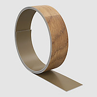 GoodHome Kala Wood effect Honey oak Worktop edging tape, (L)3m