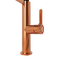 GoodHome Kamut Bronze Bronze effect Kitchen Side lever Tap