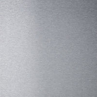GoodHome Kasei Brushed effect Stainless steel Splashback, (H)800mm (W)900mm (T)10mm