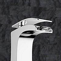 GoodHome Kellan 1 lever Chrome-plated Waterfall Basin Mono mixer Tap