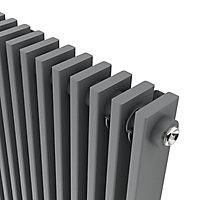 GoodHome Kensal Vertical Designer Radiator, Grey (W)368mm (H)1800mm