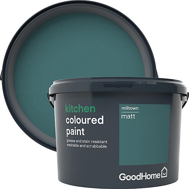 Goodhome Kitchen Milltown Matt Emulsion Paint 2 5l Diy At B Q