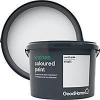 GoodHome Kitchen North pole Matt Emulsion paint, 2.5L