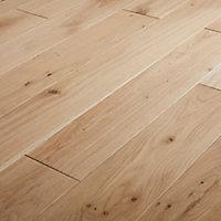GoodHome Koping Natural Oak Solid wood Flooring, 1.56m² Set