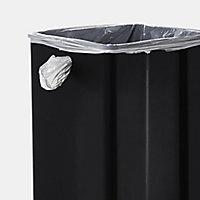 GoodHome Kora Anthracite Metal & plastic Rectangular Freestanding Kitchen Bin, 14L