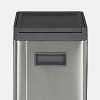 GoodHome Kora Brushed Anthracite Metal & plastic Freestanding Kitchen Bin, 30L