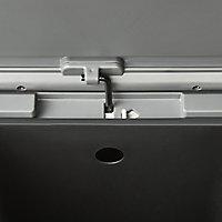 GoodHome Kora Brushed Anthracite Metal & plastic Rectangular Freestanding Kitchen Bin, 30L