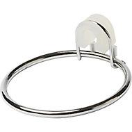 GoodHome Koros Chrome-plated Silver effect Hair dryer holder