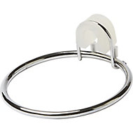 GoodHome Koros Chrome-plated Steel Hair dryer holder