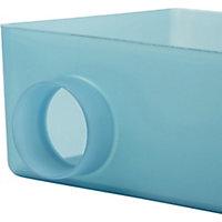 GoodHome Koros Plastic Blue Storage basket