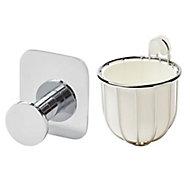 GoodHome Koros Silver effect Bathroom accessory set