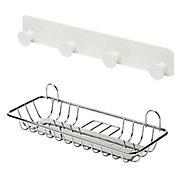 GoodHome Koros White Bathroom accessory set