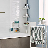 GoodHome Koros White Shower curtain rail