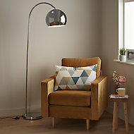 GoodHome Kotenay Chrome effect Floor light