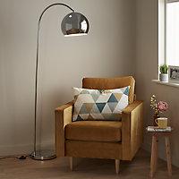GoodHome Kotenay Chrome effect Floor light