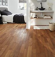 GoodHome Krabi Natural Teak Solid wood Flooring, 1.29m² Set