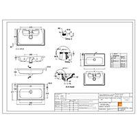 GoodHome Ladoga Matt White Vanity unit & basin set (W)600mm (H)810mm