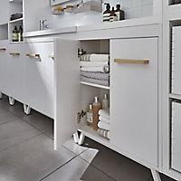 GoodHome Ladoga White Freestanding Vanity Cabinet (W)600mm (H)810mm