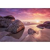 GoodHome Lagure Pink Beach Matt Mural