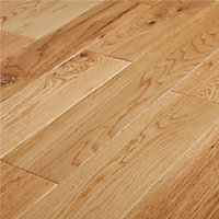 GoodHome Laholm Natural Oak Solid wood flooring, 1.4m² Pack