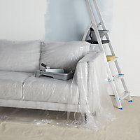 GoodHome Large Reusable Non-slip Dust sheet, (L)4m, (W)5m