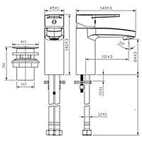 GoodHome Lecci 1 lever Contemporary Basin Mono mixer Tap