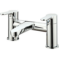 GoodHome Lecci Chrome-plated Bath Mono mixer Tap