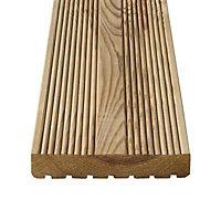 GoodHome Lehmi Pine Deck board (L)2.4m (W)144mm (T)27mm