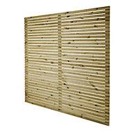 GoodHome Lemhi Contemporary Closeboard Venetian Fence panel (W)1.8m (H)1.8m