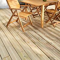GoodHome Lemhi Green Pine Deck board (L)3.6m (W)144mm (T)27mm