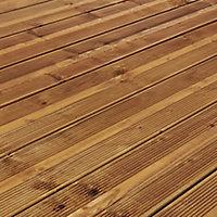 GoodHome Lemhi Natural Pine Deck board (L)4.8m (W)144mm (T)27mm