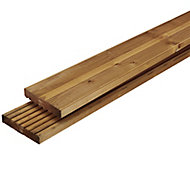 GoodHome Lemhi Wood Deck board (L)2.4m (W)144mm (T)27mm