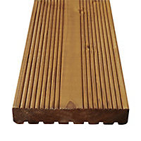 GoodHome Lemhi Wood Deck board (L)3.6m (W)144mm (T)27mm