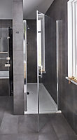 GoodHome Limski Rectangular Shower tray (L)800mm (W)1400mm (D)28mm