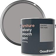 GoodHome Long island Flat matt Furniture paint, 2L