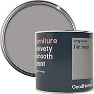 GoodHome Long island Flat matt Furniture paint, 500ml