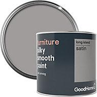 GoodHome Long island Satin Furniture paint, 500ml