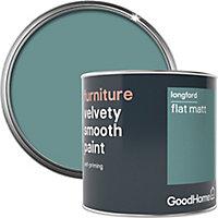 GoodHome Longford Flat matt Furniture paint, 500ml
