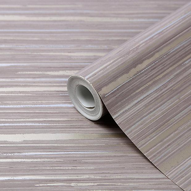 GoodHome Lucidum Grey Striped Metallic