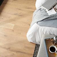 GoodHome Lulea Natural Oak Solid wood flooring, 1.008m² Pack