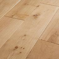 GoodHome Lulea Natural Oak Solid wood Flooring, 1.26m² Set