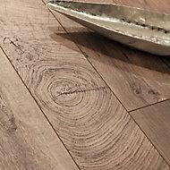 GoodHome Lydney Brown Dark oak effect Laminate Flooring, 1.76m² Pack