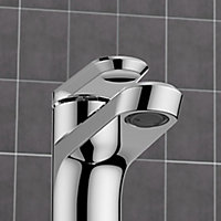 GoodHome Lynton 1 lever Chrome-plated Contemporary Basin Mono mixer Tap