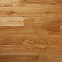 GoodHome Lysekil Natural Oak Solid wood flooring, 1.56m² Pack