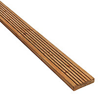 GoodHome Madeira Brown Spruce Deck board (L)2.4m (W)120mm (T)24mm