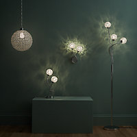 GoodHome Mantus Chrome effect Floor light