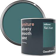 GoodHome Milltown Flat matt Furniture paint, 500ml