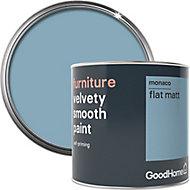 GoodHome Monaco Flat matt Furniture paint, 500ml