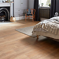 GoodHome Mossley Natural Natural oak effect Laminate flooring, 1.73m² Pack